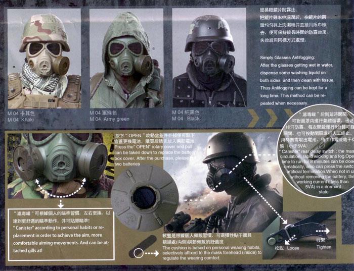 Russian Anti Fog Safety Gas Mask W Fan Popular Airsoft