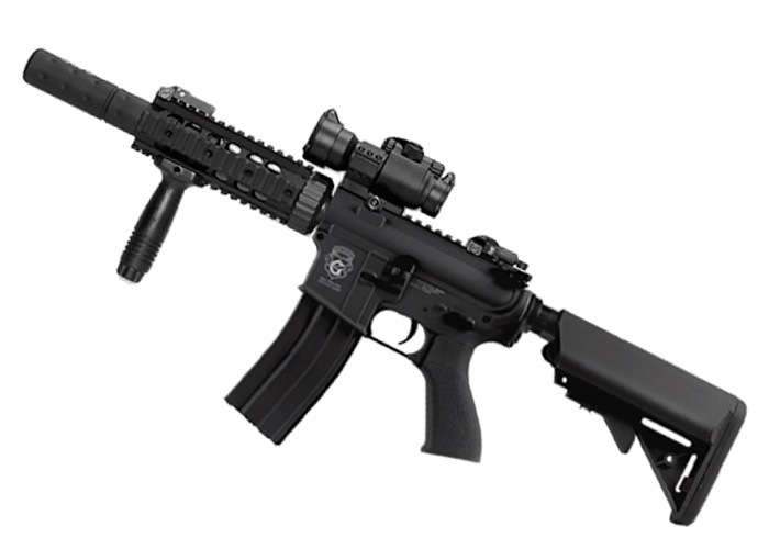 G&G Limited Edition M4 CQB-R Combat Machine AEG with Mock Suppressor