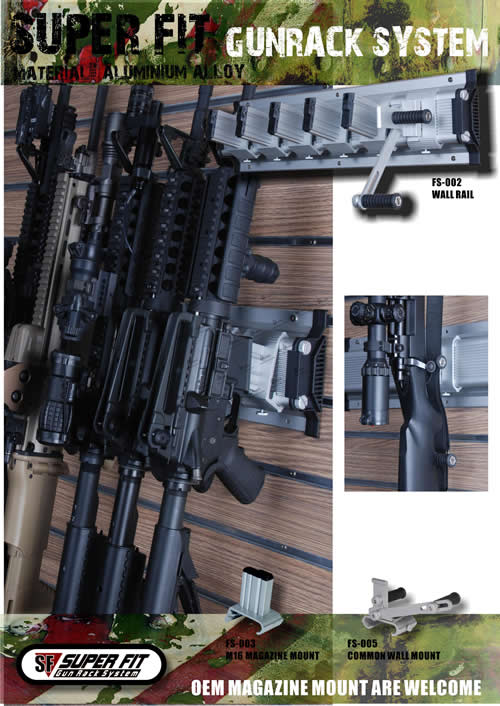 Gun Rack Wall Version Popular Airsoft