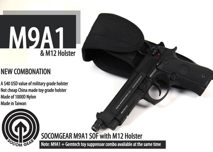 SOCOM Gear M9A1 + M12 Holster
