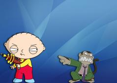 Stewie and the Evil Monkey by Ericp27 (Deviant Art)