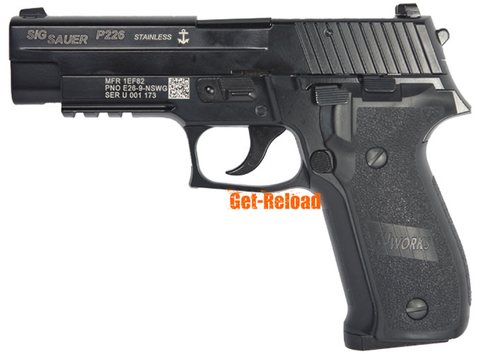 KJ Full Metal P226 Gas Blowback pistol w/ marking (KP-01M)
