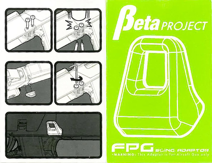 BETA PROJECT FPG Sling Adaptor New AEG  AIRSOFT ONLY!