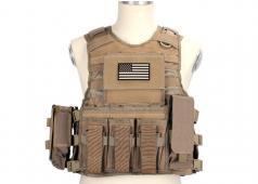 King Arms MPS Fast Release Combat Vest - TAN Set / M4