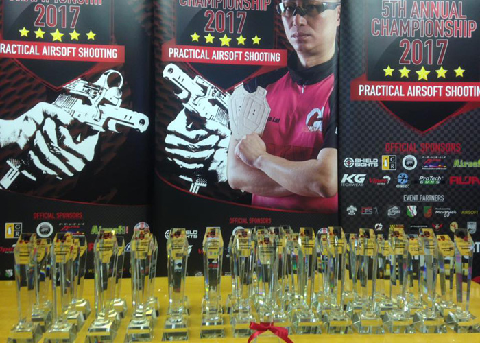 5th Airsoft Surgeon European Championship Trophies