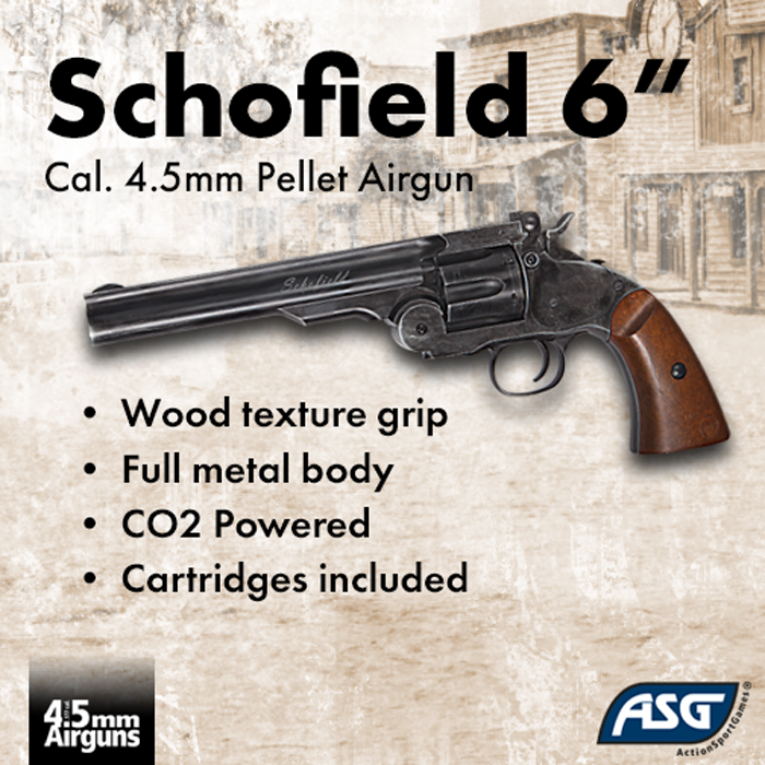 "ASG Schofield 6"" CO2 Airguns Released"