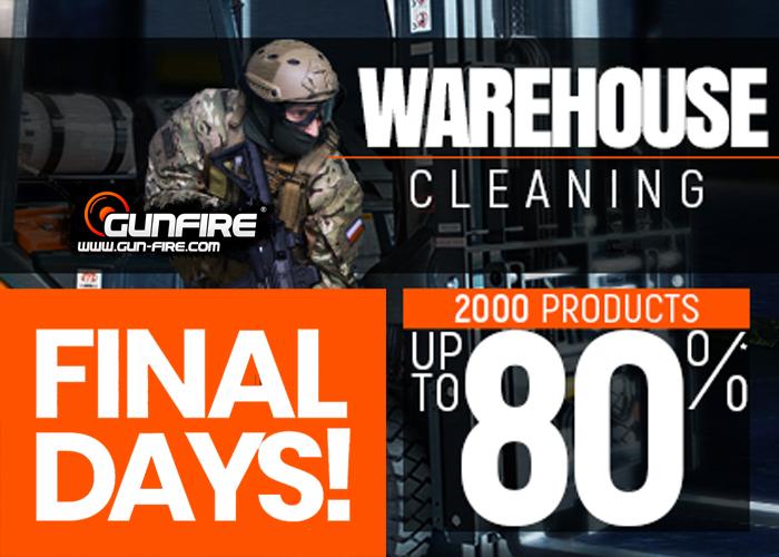 Gunfire Warehouse Cleaning 2018 Final Days