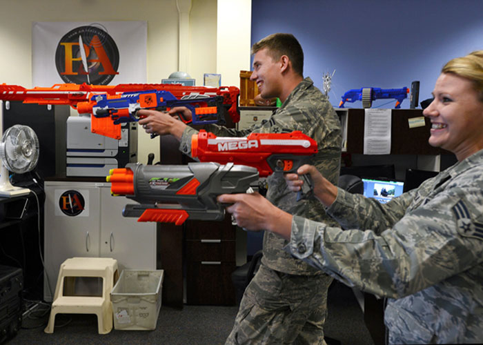 US Air Force Nerf Fight