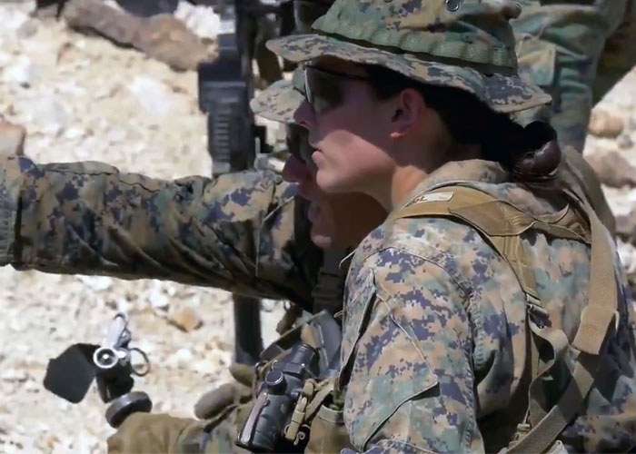 USMC Congratulates First Female Infantry Officer