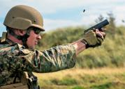 Sgt. Devin Hughes of the Marine Shooting Team with Glock 19