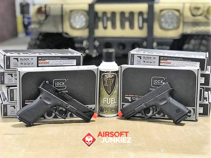Airsoftjunkiez EF Glock 19 and 17 with EF Fuel Gas