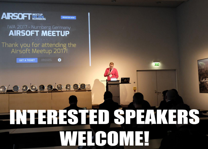 Airsoft Meetup 2018 Call for Speakers