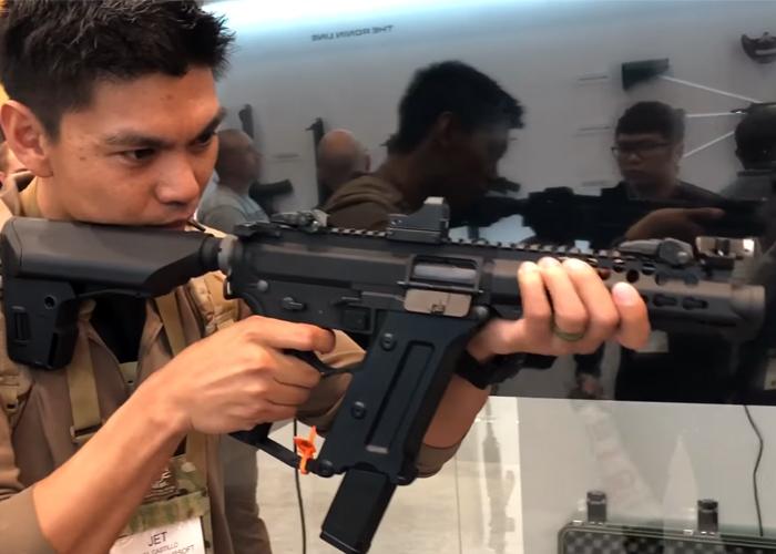 DesertFox Airsoft KWA Ronin TK.45 SMG SHOT Show 2018