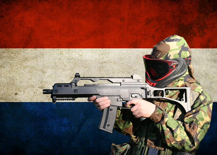 Airsoft Player Dutch Flag