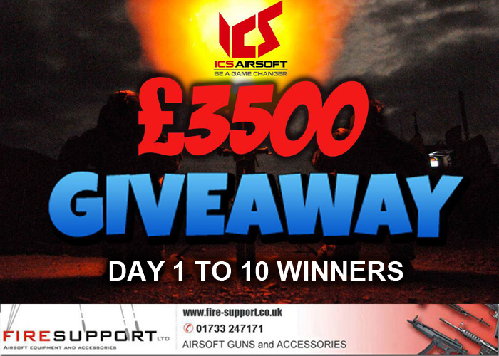 Firesupport £3500 Giveaway Winners Day 10