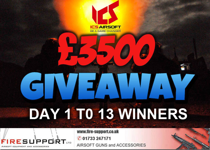 Firesupport Giveaway Winners Day 13