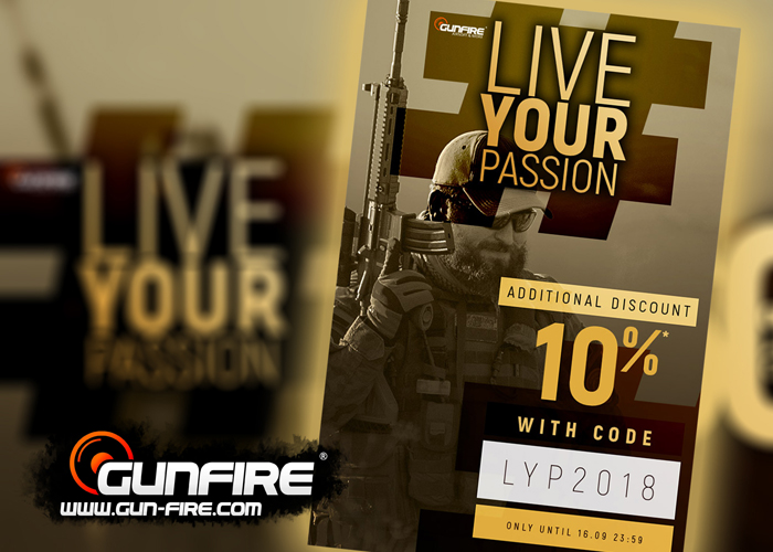 Gunfire Live Your Passion Sale 2018: Additional 10% Off