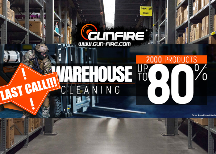 Gunfire Warehouse Cleaning 2018 Last Call