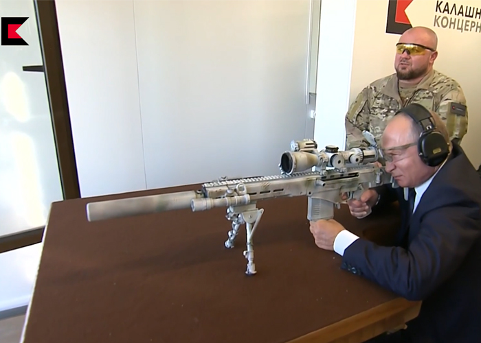 Putin With The Kalashnikov SVCh-308 Sniper Rifle