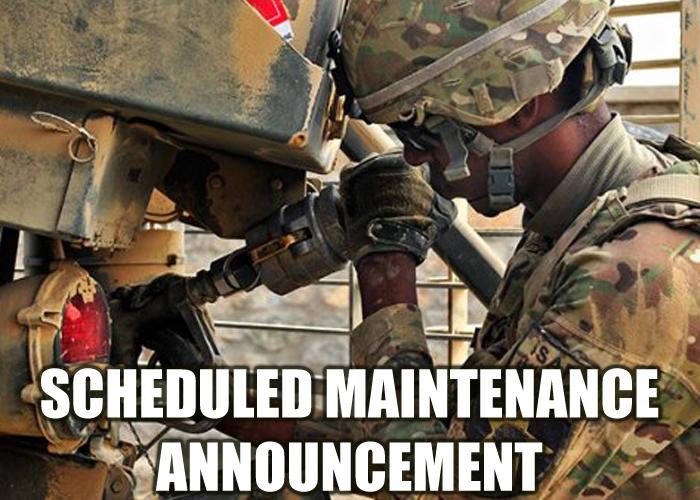 Site Maintenance Announcement 27 Feb 218