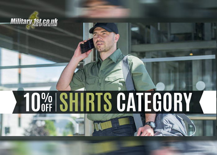 Military1st.co.uk Shirt Sale 2018