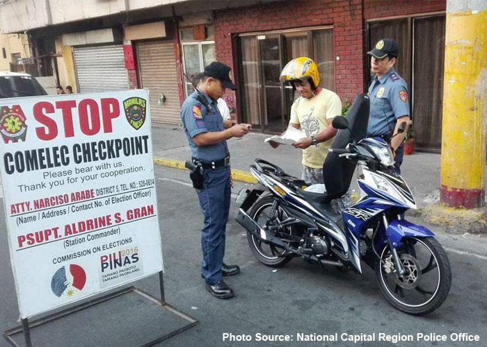 NCRPO COMELEC Checkpoint