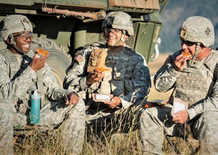U.S. Army MRE Pizza (U.S. Army Photo)