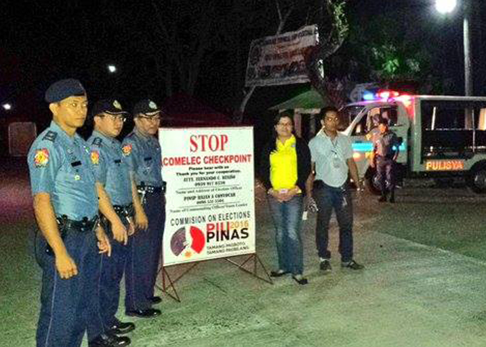 PNP - COMELEC Checkpoint 2016 (Source: PNP)