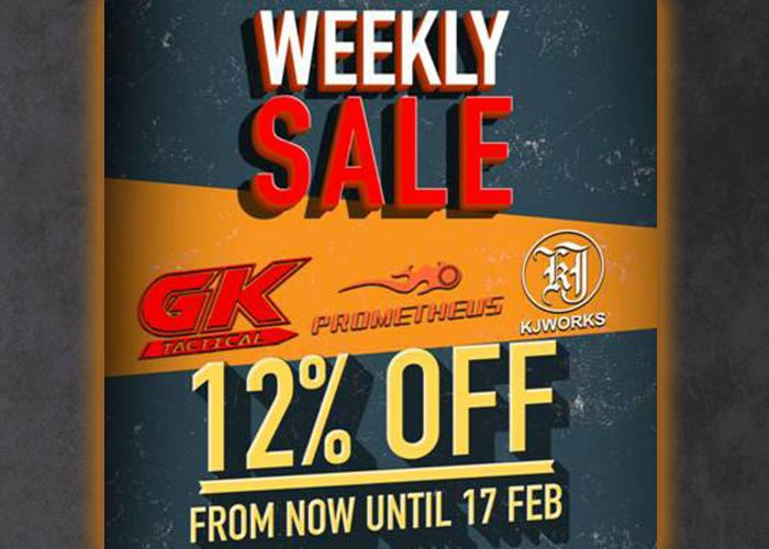 RedWolf Airsoft Weekly Sale 12% Off GK Tactical, Prometheus & KJW