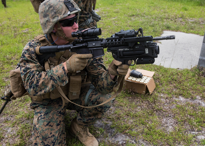 US Marine with M320