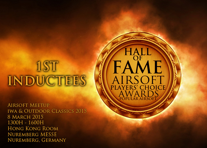1st Inductees Hall of Fame Airsoft Players' Choice Awards