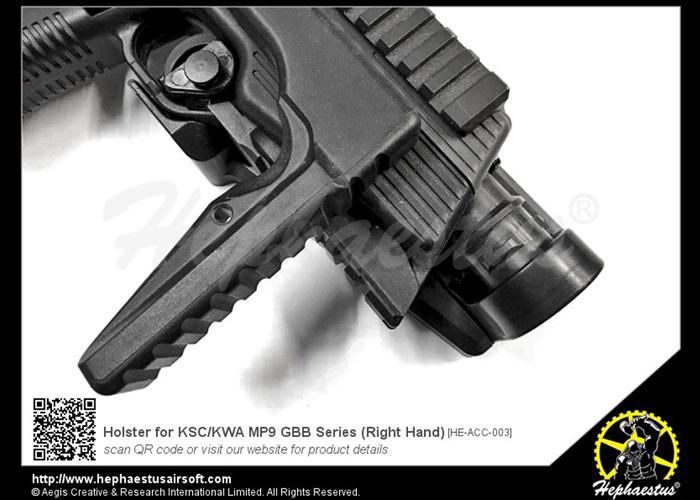 Hephaestus KSC/KWA MP9 GBB Holster