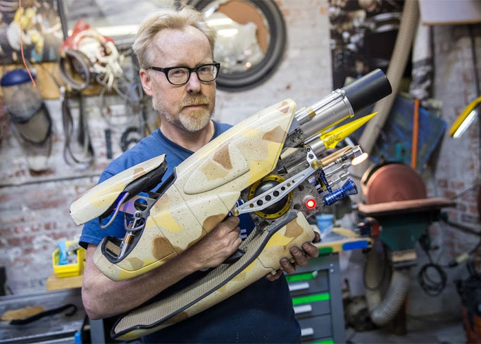 Adam Savage with his Zorg ZF-1 Replica