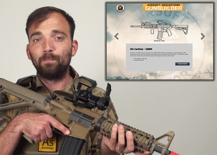 airsoft megastore s gun builder 2 0 allows you to build custom gas