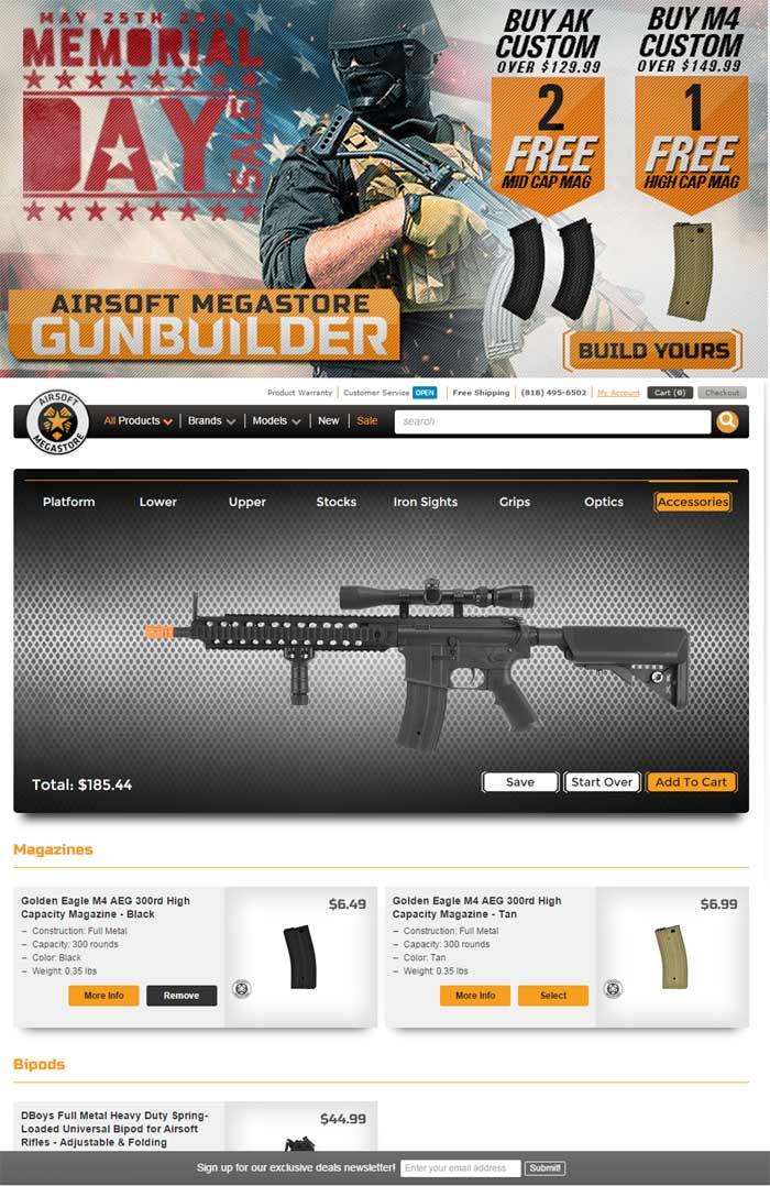 ams memorial day gun builder promo popular airsoft