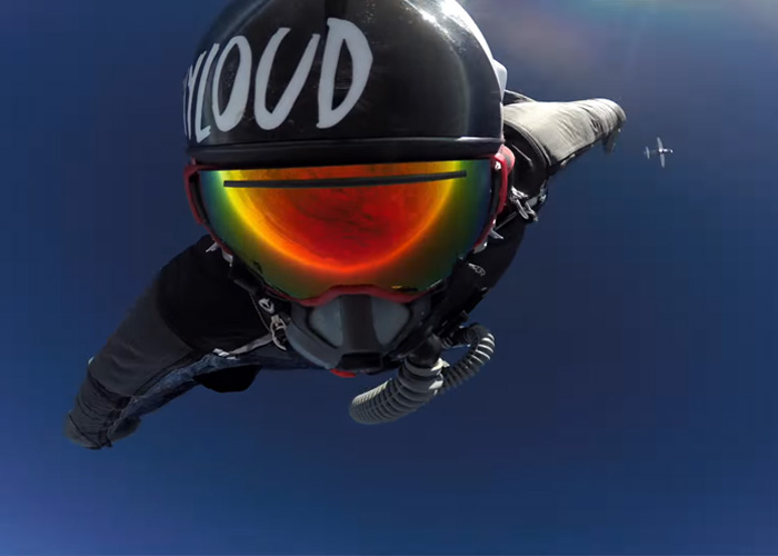 Andy Stumpf Wing Suit Jump For Navy SEAL Foundation