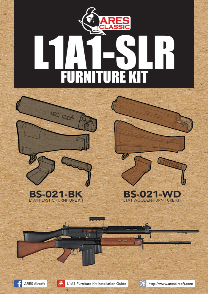 Ares Airsoft L1a1 Wood Furniture Kit Popular Airsoft