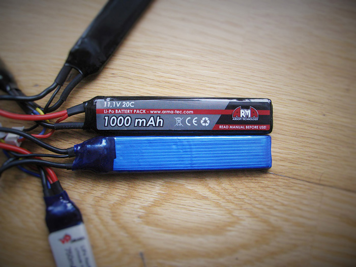 3 Sticks Batterie Li-Fe 9.9V 1000mAh ASG