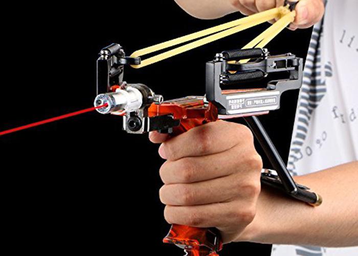 Assolar SS-12 Multi-function Super Power Stainless Hunting Laser Slingshot