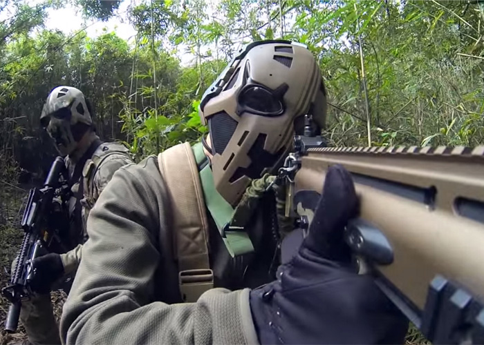 DevTac Airsoft Mask In Action