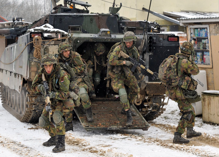 Dutch Soldiers In Exercise Allied Spirit 2015