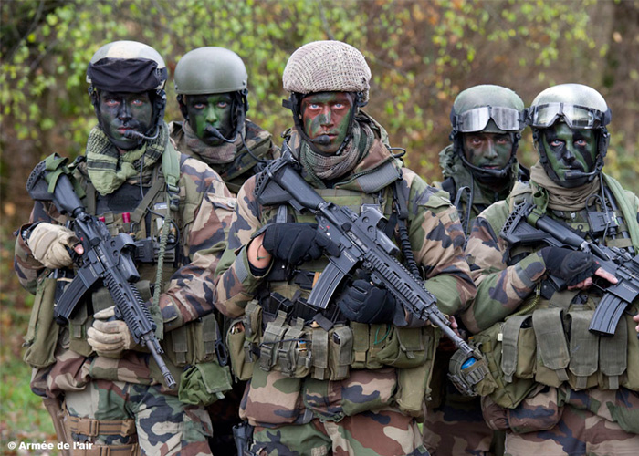 French Air Force Commandos with HK416
