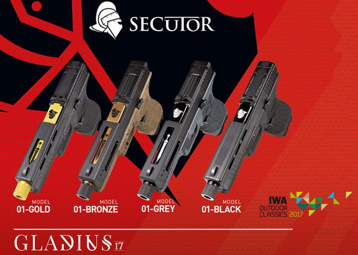 Secutor Gladius 17 Pistols At IWA 2017