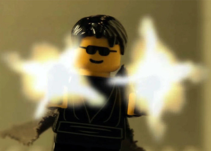 Snooperking Lego Matrix Lobby Fight Scene