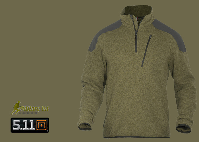Military1st 5.11 Tactical 1/4 Zip Sweater Field Green