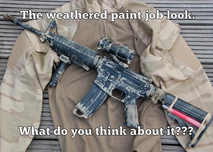 Weathered Airsoft Gun Paint Job
