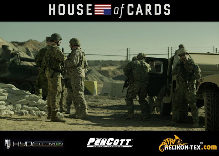 American soldiers in MultiCam and Russian soldiers in PenCott House of Cards