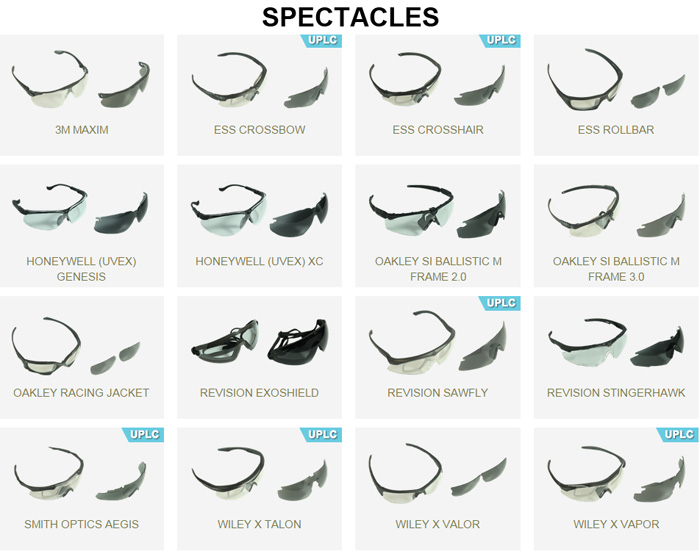 the u s army s authorized protective eyewear list apel