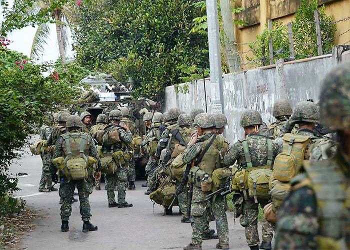 Philippine Army Troops in New Camopat