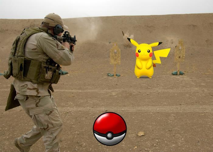 Pikachu At The Firing Range